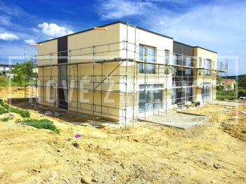 Finalizace venkovních fasád - Prodej domu v osobním vlastnictví 214 m², Želešice