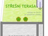 patro (2.NP) - schéma (Prodej komerčního objektu 184 m², Brno)