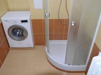 koupelna se sprchovým koutem (Pronájem bytu 1+kk v družstevním vlastnictví 24 m², Praha 8 - Karlín)