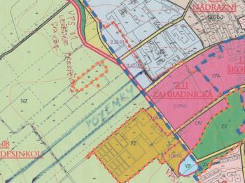 Situace - územní plán - Prodej pozemku 58798 m², Litomyšl