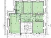 půdorys 3.podlaží - Prodej bytu 7+1 v osobním vlastnictví 210 m², Praha 4 - Podolí