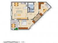 plánek bytu - Prodej bytu 3+kk v družstevním vlastnictví 105 m², Praha 5 - Stodůlky