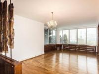 okna obývacího pokoje na východní a jižní stranu - Pronájem domu v osobním vlastnictví 257 m², Praha 5 - Radlice