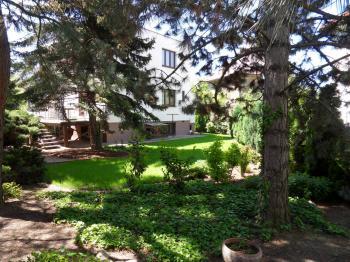 zahrada se vzrostlými stromy - Pronájem domu v osobním vlastnictví 257 m², Praha 5 - Radlice