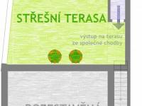 1. patro - schema - Prodej domu v osobním vlastnictví 184 m², Brno