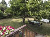 pohled do zahrady s magnolii - Prodej domu v osobním vlastnictví 270 m², Praha 9 - Vinoř