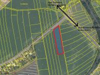 snímek se zákresem pozemku (Prodej pozemku 5312 m², Tuchlovice)