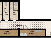 plánek (Pronájem komerčního objektu 64 m², Rakovník)