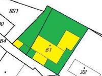 Schema budov a pozemků (Prodej domu v osobním vlastnictví 110 m², Lubenec)