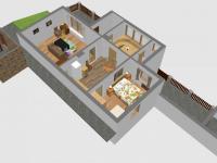 3D - SZ přízemí (Prodej domu v osobním vlastnictví 110 m², Lubenec)