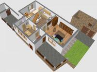 3D - JV přízemí (Prodej domu v osobním vlastnictví 110 m², Lubenec)