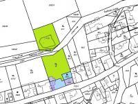mapa katastr (Prodej domu v osobním vlastnictví 140 m², Šanov)