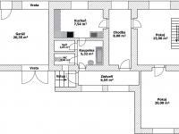 1 NP Plánek - Prodej domu v osobním vlastnictví 150 m², Ledce