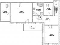 2 NP Plánek - Prodej domu v osobním vlastnictví 150 m², Ledce