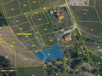 snímek z kat. mapy - Prodej pozemku 1920 m², Žižice