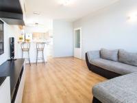 Obývací pokoj pohled od okna (Prodej bytu 3+kk v osobním vlastnictví 66 m², Praha 9 - Černý Most)