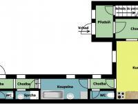 přízemí - Prodej domu v osobním vlastnictví 178 m², Jedomělice
