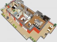 Plánek bytu - Prodej bytu 4+kk v osobním vlastnictví 134 m², Praha 5 - Košíře