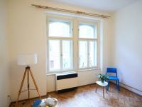Detail - obývací pokoj (Prodej bytu 1+1 v družstevním vlastnictví 44 m², Praha 4 - Nusle)
