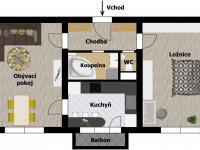 Inspirace: rekonstrukce A (Prodej bytu 2+1 v družstevním vlastnictví 52 m², Praha 9 - Hloubětín)