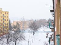 Vyhled z balkonu (Prodej bytu 2+1 v družstevním vlastnictví 52 m², Praha 9 - Hloubětín)