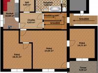 Plánek 2.podlaží - Prodej domu v osobním vlastnictví 207 m², Ondřejov