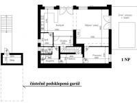 1.NP - Prodej domu v osobním vlastnictví 244 m², Praha 5 - Velká Chuchle