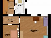 Plánek 1.patro - Prodej domu v osobním vlastnictví 184 m², Kladno