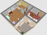 Prostorový plánek 1.patro - Prodej domu v osobním vlastnictví 184 m², Kladno