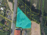 zakreslení v katastru - Prodej pozemku 1547 m², Lubná