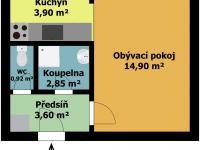 Prodej bytu 1+1 v osobním vlastníctví 26 m2, Kladno - Prodej bytu 1+1 v osobním vlastnictví 26 m², Kladno