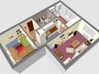 3D JV - Prodej bytu 3+kk v osobním vlastnictví 60 m², Rakovník