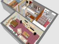 3D SV - Prodej bytu 3+kk v osobním vlastnictví 60 m², Rakovník