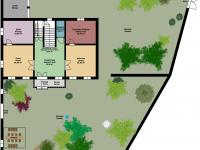 půdorys 1. NP - Prodej domu v osobním vlastnictví 260 m², Kmetiněves