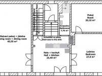půdorys 2. NP - Prodej domu v osobním vlastnictví 260 m², Kmetiněves