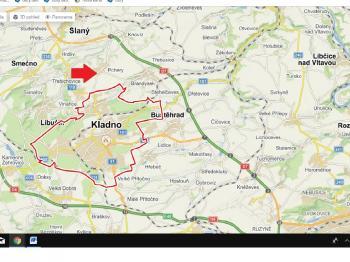 mapa - Prodej pozemku 23744 m², Pchery