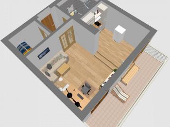 Plánek bytu - Prodej bytu 1+kk v osobním vlastnictví 30 m², Praha 3 - Žižkov