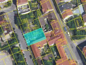 snímek pozemku - Prodej pozemku 300 m², Kladno