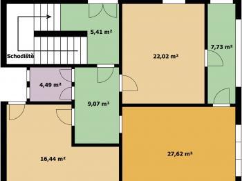 1. a 2. NP - Prodej domu v osobním vlastnictví 280 m², Ústí nad Labem