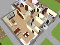 3D vizualizace (Prodej domu v osobním vlastnictví 118 m², Přestanov)