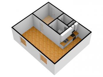 Prodej bytu 1+kk v družstevním vlastnictví 32 m², Ústí nad Labem