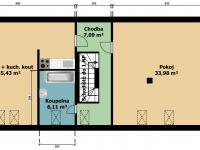 půdorys dům č.2 - Prodej domu v osobním vlastnictví 395 m², Psáry