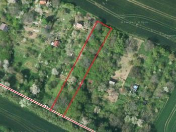 hranice pozemku - Prodej pozemku 1588 m², Malé Žernoseky