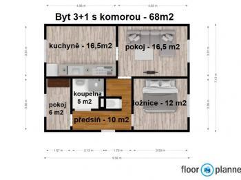 Pronájem bytu 3+1 68 m², Ústí nad Labem