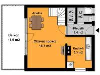 Přízemí domu je účelově řešeno  (Prodej chaty / chalupy 68 m², Slatina)