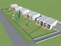 Pohled na celou výstavbu projektu (Prodej domu v osobním vlastnictví 216 m², Dlouhá Lhota)