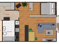 Prodej bytu 1+kk v osobním vlastnictví 60 m², Praha 5 - Jinonice