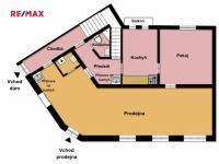 Půdorys pronajímaných prostor - Pronájem obchodních prostor 113 m², Tábor