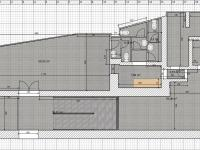 varianta se třemi záchody (Pronájem obchodních prostor 75 m², Žatec)