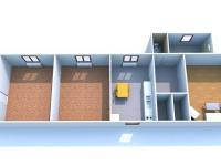 3D půdorys (Prodej domu v osobním vlastnictví 80 m², Ctiněves)